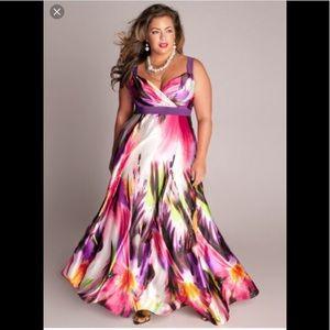 NWOT IGIGI Floral 4x-5x Gown